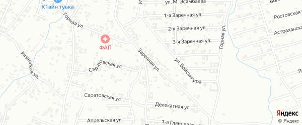 Заречная улица на карте Шали с номерами домов