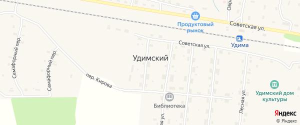 Железнодорожная улица на карте Удимского поселка с номерами домов