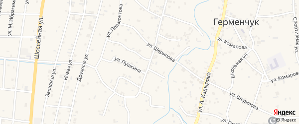 Улица Х.Нурадилова на карте села Герменчук с номерами домов
