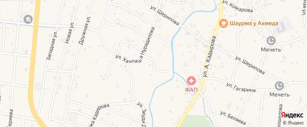 Переулок 4-й Ханпаша Нурадилова на карте села Герменчук с номерами домов