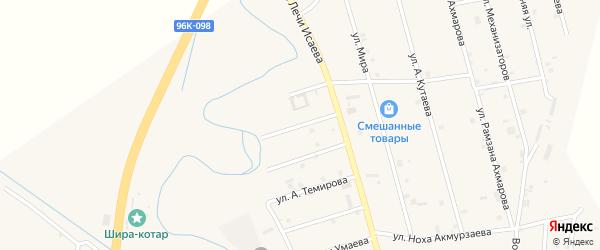 Улица Солтагира Тасуева на карте села Герменчук с номерами домов