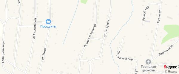 Привокзальная улица на карте Удимского поселка с номерами домов