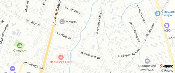 Аэродромная улица на карте Шали с номерами домов