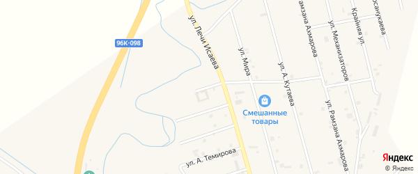 Улица Лечи Мадаева на карте села Герменчук с номерами домов
