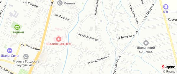 Московская улица на карте Шали с номерами домов