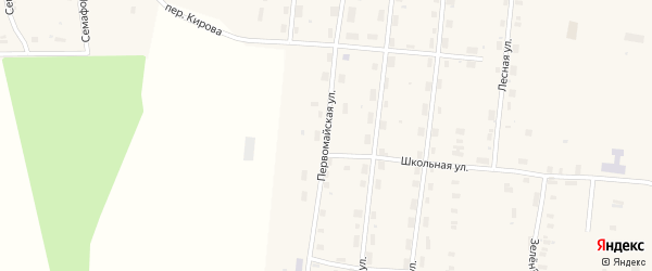 Первомайская улица на карте Удимского поселка с номерами домов