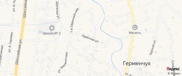 Заречная улица на карте села Герменчук с номерами домов
