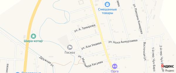 Улица Ката Амерсултанова на карте села Герменчук с номерами домов