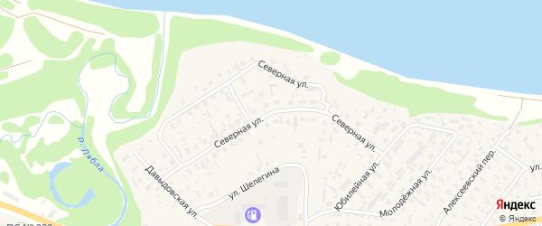 Северная улица на карте села Красноборска с номерами домов
