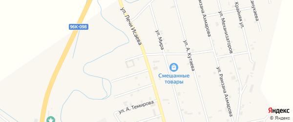Улица Лечи Исаева на карте села Герменчук с номерами домов