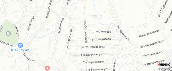 Улица Островского на карте Шали с номерами домов