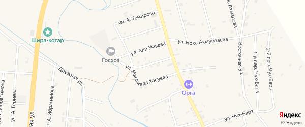 Улица Шахида Шоипова на карте села Герменчук с номерами домов