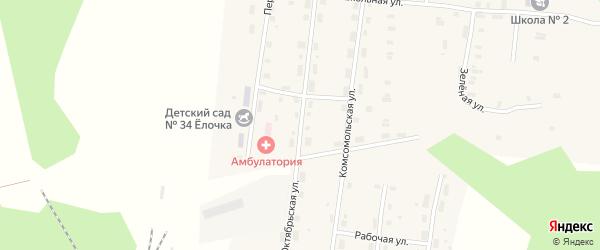 Октябрьская улица на карте Удимского поселка с номерами домов
