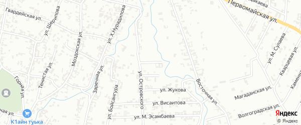 Островский переулок на карте Шали с номерами домов