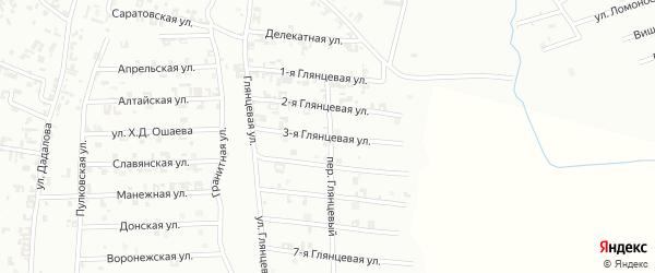 3-я Глянцевая улица на карте Шали с номерами домов