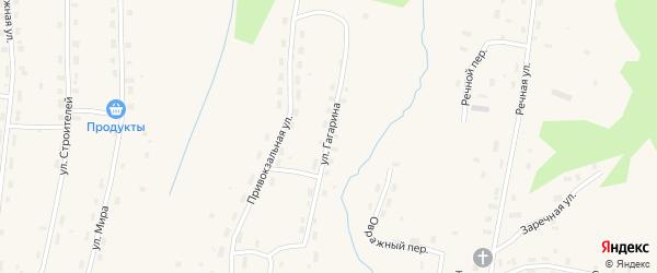 Улица Гагарина на карте Удимского поселка с номерами домов