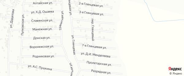 6-я Глянцевая улица на карте Шали с номерами домов
