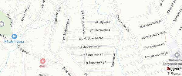 Улица Эсамбаева на карте Шали с номерами домов