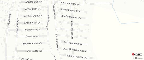 5-я Глянцевая улица на карте Шали с номерами домов