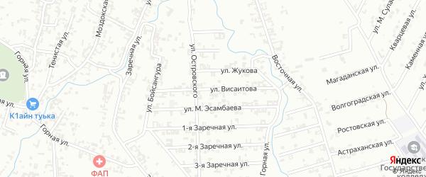 Улица Висаитова на карте Шали с номерами домов