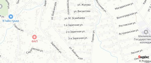 2-я Заречная улица на карте Шали с номерами домов