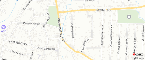 Улица Мичурина на карте Шали с номерами домов