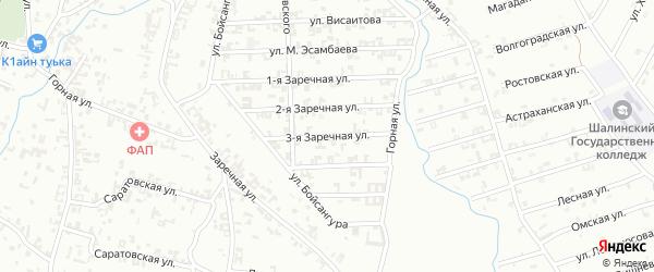 3-я Заречная улица на карте Шали с номерами домов