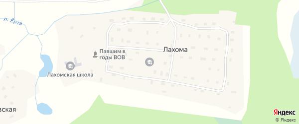 Первомайская улица на карте поселка Лахомы с номерами домов