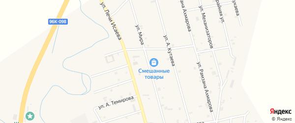 Улица Мира на карте села Герменчук с номерами домов