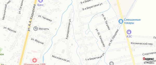 5-я Береговая улица на карте Шали с номерами домов