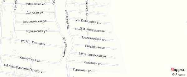 9-я Глянцевая улица на карте Шали с номерами домов