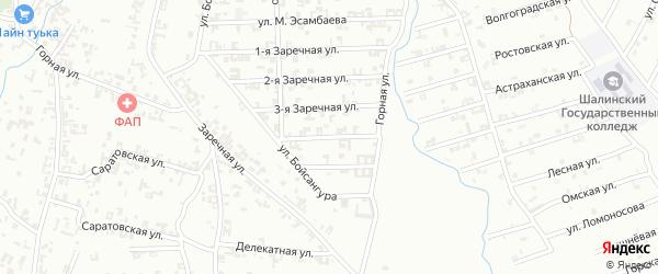 4-я Заречная улица на карте Шали с номерами домов