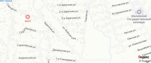 5-я Заречная улица на карте Шали с номерами домов