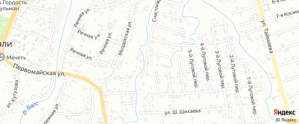 Переулок 1-й Зенита на карте Шали с номерами домов