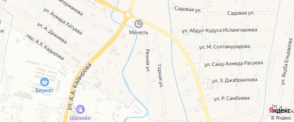 Речная улица на карте села Герменчук с номерами домов