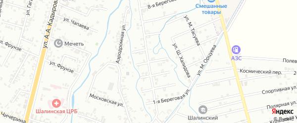 4-я Береговая улица на карте Шали с номерами домов