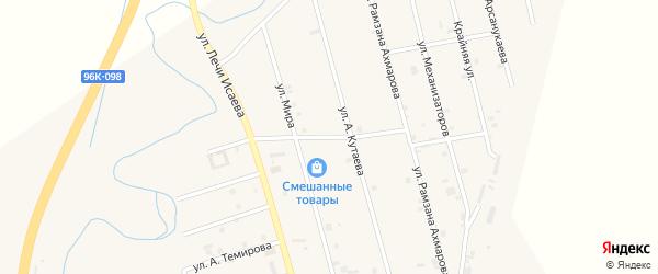Улица Апти Акмурзаева на карте села Герменчук с номерами домов