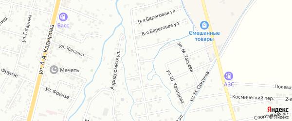 6-я Береговая улица на карте Шали с номерами домов