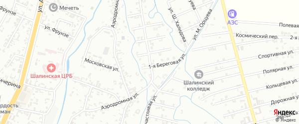 Счастливая улица на карте Шали с номерами домов