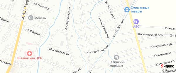 3-я Береговая улица на карте Шали с номерами домов