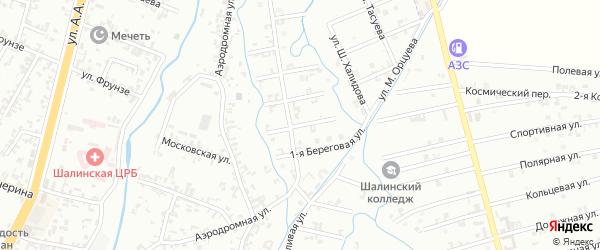 2-я Береговая улица на карте Шали с номерами домов