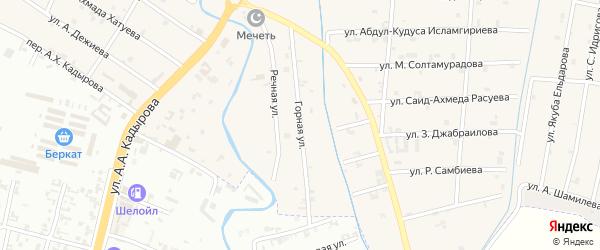 Горная улица на карте села Герменчук с номерами домов