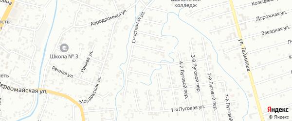 Переулок 3-й Зенита на карте Шали с номерами домов