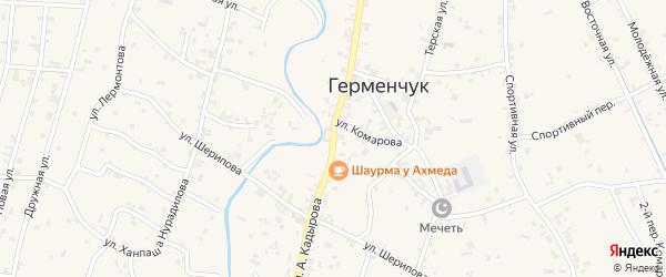 Переулок 4-й Ахмат-Хаджи Кадырова на карте села Герменчук с номерами домов