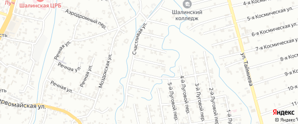 Переулок 4-й Зенита на карте Шали с номерами домов