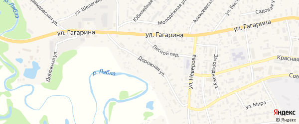 Дорожная улица на карте села Красноборска с номерами домов