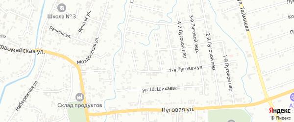 7-й Луговой переулок на карте Шали с номерами домов