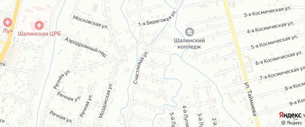 Переулок 6-й Зенита на карте Шали с номерами домов