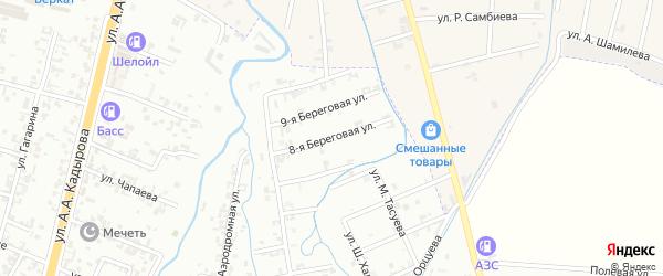 8-я Береговая улица на карте Шали с номерами домов
