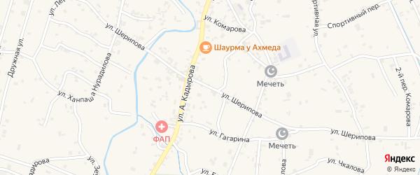 Улица Асламбека Шерипова на карте села Герменчук с номерами домов
